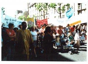 1996 Manif Coord 93 à Paris